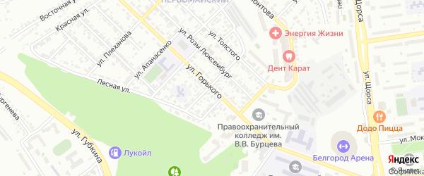 Улица Горького на карте Белгорода с номерами домов