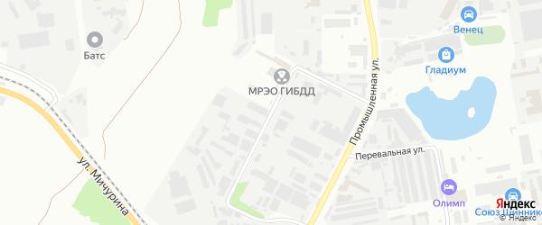 Промышленный проезд на карте Белгорода с номерами домов