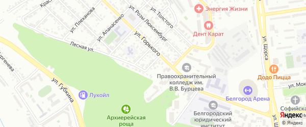 Лесной тупик на карте Белгорода с номерами домов