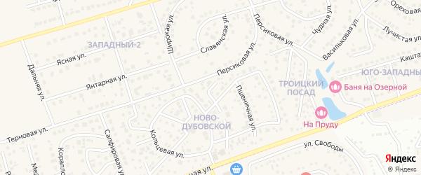 Сказочная улица на карте поселка Дубового с номерами домов