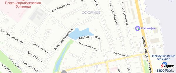 Бассейный переулок на карте Белгорода с номерами домов