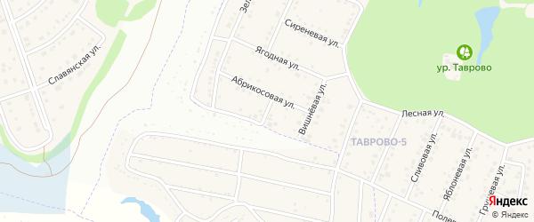 Абрикосовый переулок на карте Таврово 5-й микрорайона с номерами домов