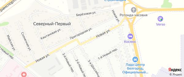Новая улица на карте Белгорода с номерами домов