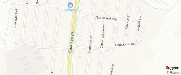 Народная улица на карте Северного поселка с номерами домов