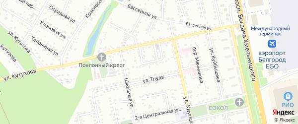 Кутузова 1-й переулок на карте Белгорода с номерами домов