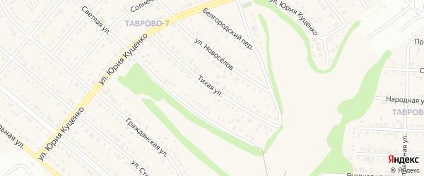 Тихая улица на карте Таврово 7-й микрорайона с номерами домов
