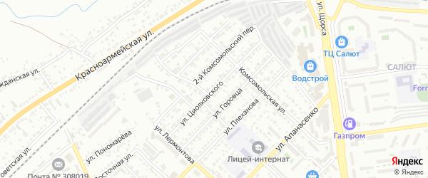 Улица Циолковского на карте Белгорода с номерами домов
