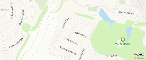 Привольная улица на карте Таврово 5-й микрорайона с номерами домов