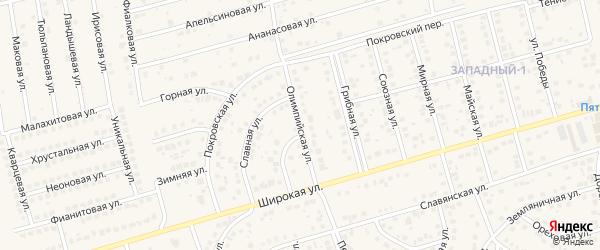 Олимпийская улица на карте поселка Дубового с номерами домов