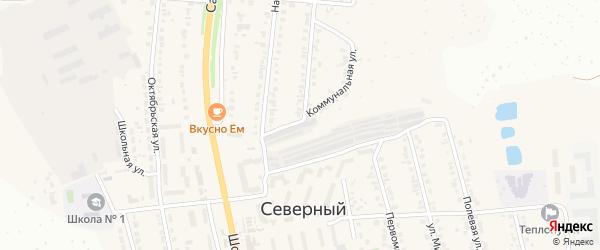 Улица Г.А.Мишенина на карте Северного поселка с номерами домов