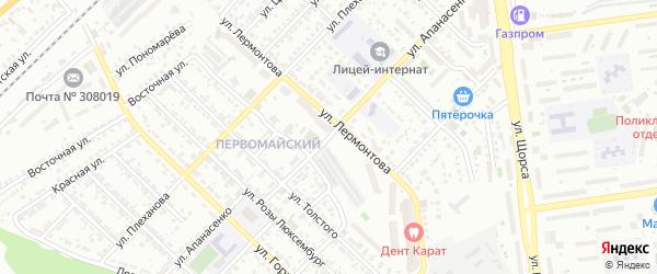 Улица Апанасенко на карте Белгорода с номерами домов