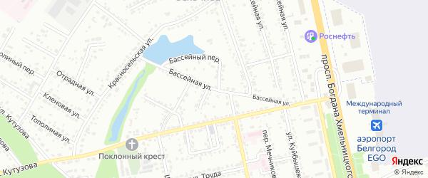 Бассейная улица на карте Белгорода с номерами домов