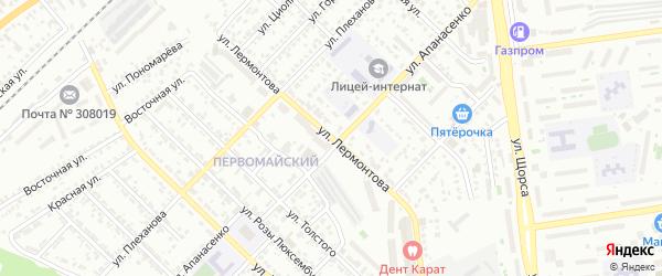 Улица Лермонтова на карте Белгорода с номерами домов