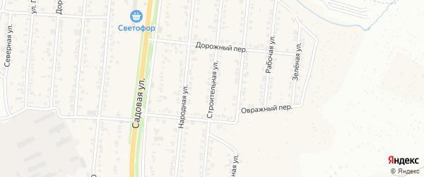 Строительная улица на карте Северного поселка с номерами домов