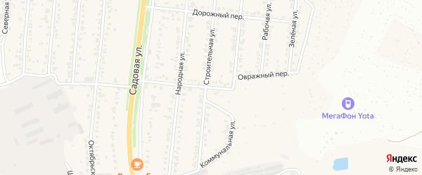 Овражный переулок на карте Северного поселка с номерами домов