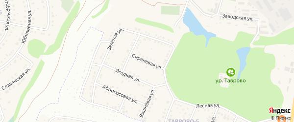 Сиреневая улица на карте Таврово 5-й микрорайона с номерами домов