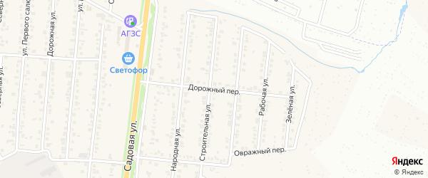 Дорожный переулок на карте Северного поселка с номерами домов