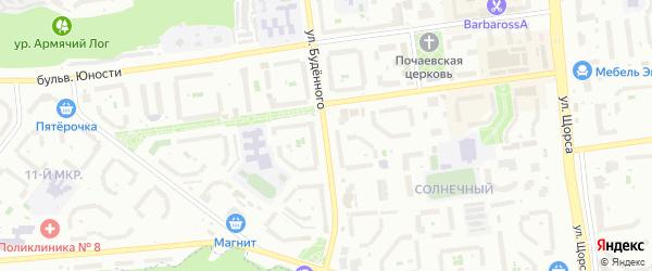 Улица Буденного на карте Белгорода с номерами домов