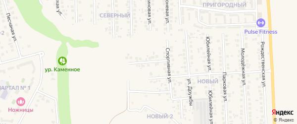 Офицерский переулок на карте поселка Дубового с номерами домов