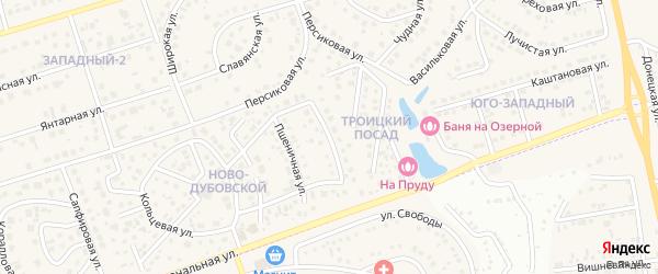 Брусничная улица на карте поселка Дубового с номерами домов