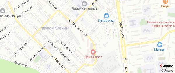 Улица Пирогова на карте Белгорода с номерами домов