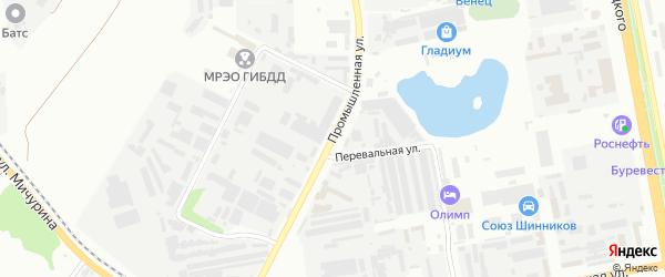 Промышленная улица на карте Белгорода с номерами домов