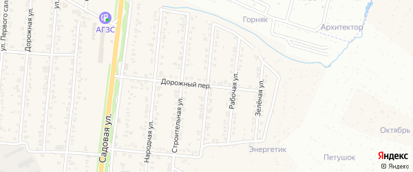 Коллективная улица на карте Северного поселка с номерами домов