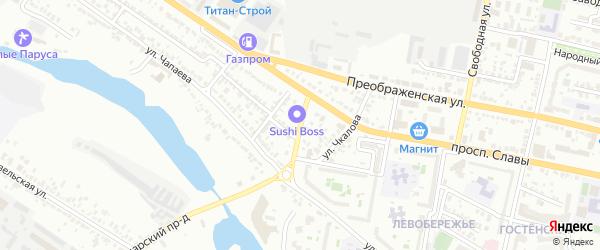 Дарницкий 2-й переулок на карте Белгорода с номерами домов