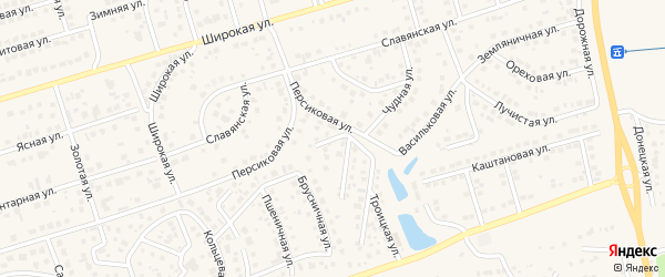Благовещенский переулок на карте поселка Дубового с номерами домов
