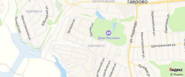 Карта Таврово 5-й микрорайона в Белгородской области с улицами и номерами домов