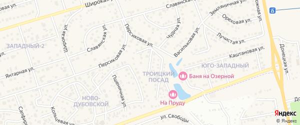 Благовещенская улица на карте поселка Дубового с номерами домов