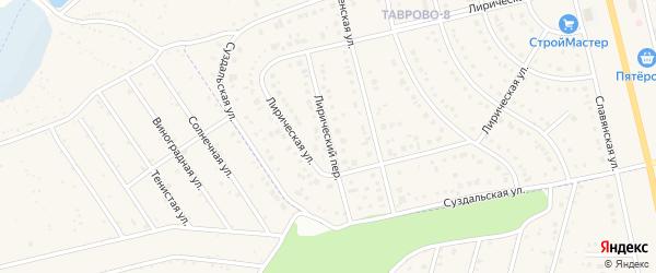 Лирический переулок на карте Таврово 8-й микрорайона с номерами домов