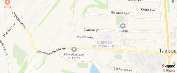 Улица Есенина на карте села Таврово с номерами домов