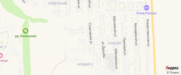 Спортивная улица на карте поселка Дубового с номерами домов