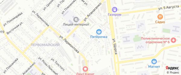 Переулок Апанасенко на карте Белгорода с номерами домов