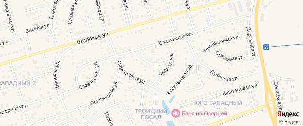 Черемуховая улица на карте поселка Дубового с номерами домов