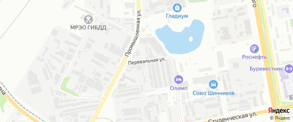 Перевальная улица на карте Белгорода с номерами домов