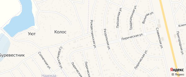 Рождественская улица на карте Таврово 8-й микрорайона с номерами домов