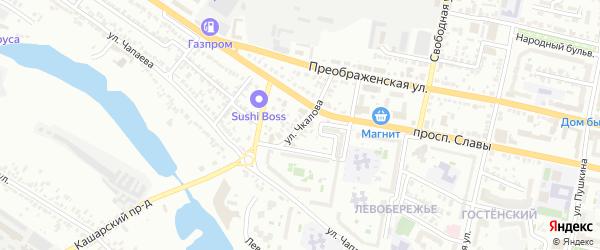 Улица Чкалова на карте Белгорода с номерами домов