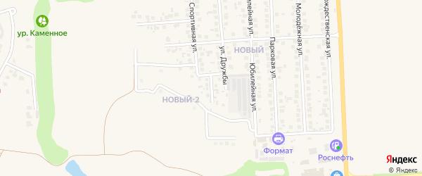 Переулок Дружбы на карте поселка Дубового с номерами домов