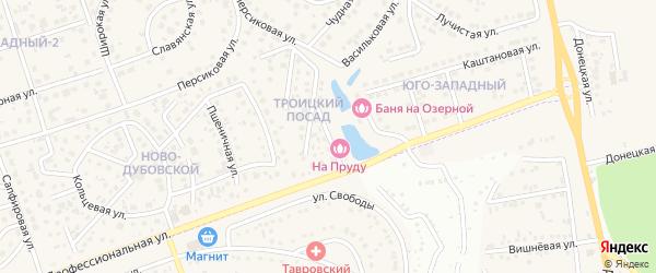 Троицкая улица на карте поселка Дубового с номерами домов