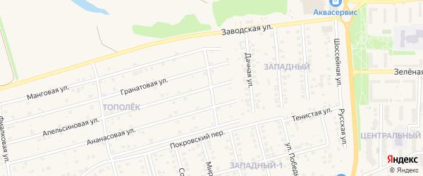 Ольховая улица на карте поселка Дубового с номерами домов