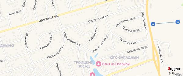 Чудная улица на карте поселка Дубового с номерами домов