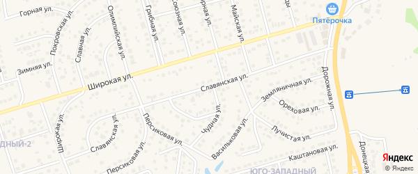 Славянская улица на карте поселка Дубового с номерами домов