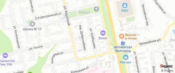 Куйбышева 1-й переулок на карте Белгорода с номерами домов