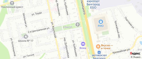 Улица Куйбышева на карте Белгорода с номерами домов
