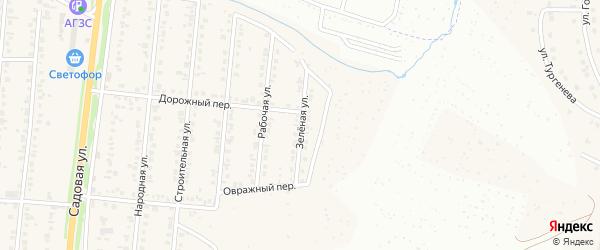 Зеленая улица на карте Северного поселка с номерами домов