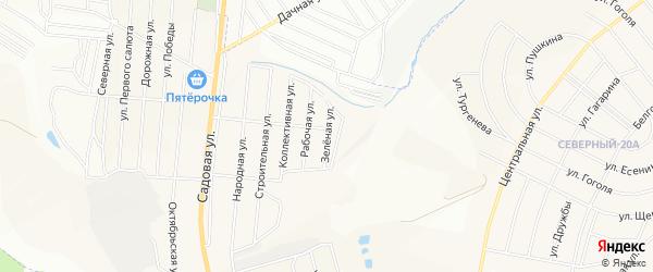 СТ Зеленая Долина на карте Северного поселка с номерами домов