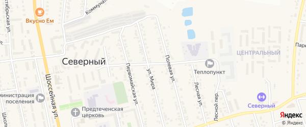 Олимпийская улица на карте Северного поселка с номерами домов