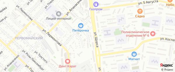 Переулок Щорса на карте Белгорода с номерами домов